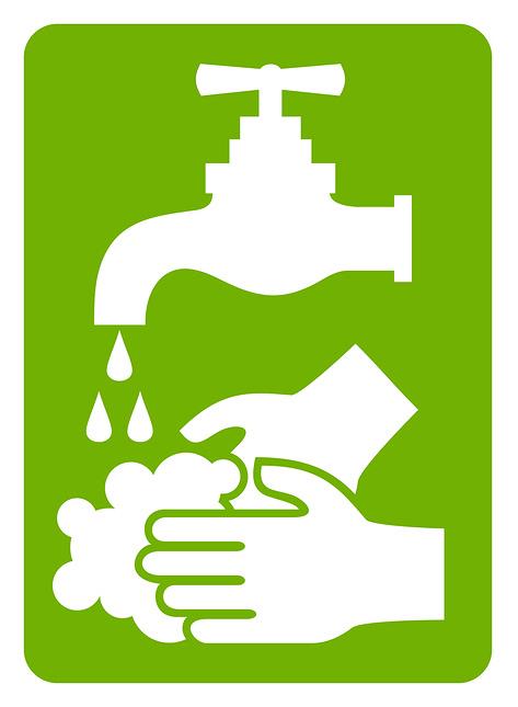 lavez vos mains vert
